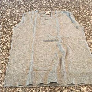 Jcrew Womens Cotton Gray Vest Size XXS